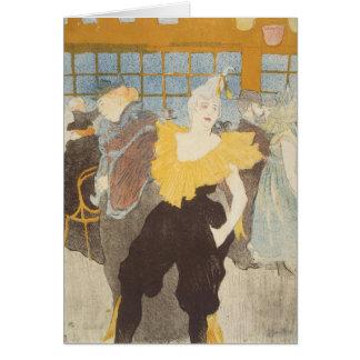 El Clownesse en el colorete, 1897 Tarjeta De Felicitación