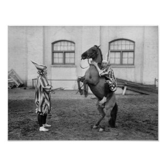 El Clowning alrededor: 1915 Poster