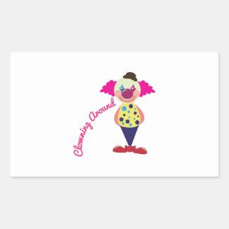 El Clowning alrededor Rectangular Pegatinas