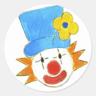 El Clowning alrededor Etiqueta Redonda