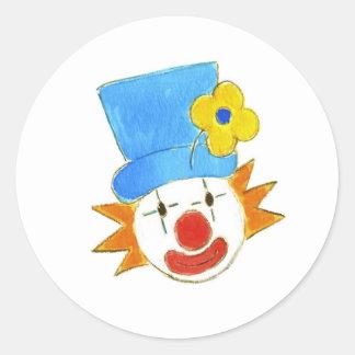 El Clowning alrededor Etiquetas Redondas