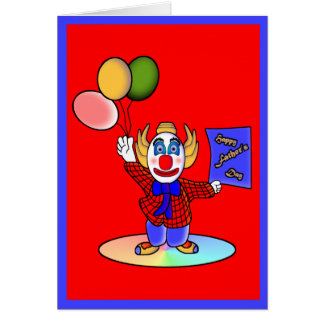 El Clowning alrededor Tarjeta De Felicitación