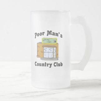 El club de campo del pobre hombre de la bolera jarra de cerveza esmerilada