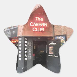 El club de la caverna en la calle de Mathew de Pegatina En Forma De Estrella