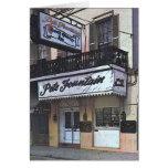 El club de la fuente de Pete, New Orleans Tarjetón