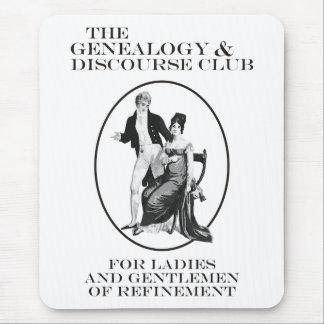 El club de la genealogía y del discurso alfombrilla de ratones