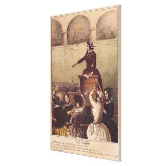El club de las mujeres, c.1848 lona estirada galerías