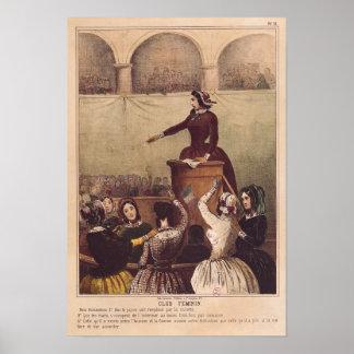 El club de las mujeres, c.1848 póster