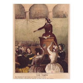 El club de las mujeres, c.1848 postal