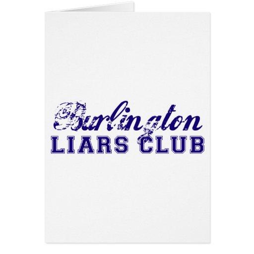El club de los mentirosos de Burlington Felicitaciones