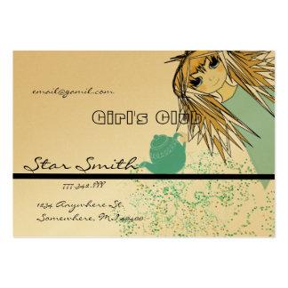 El club del chica del animado - - modificado para tarjetas de visita grandes