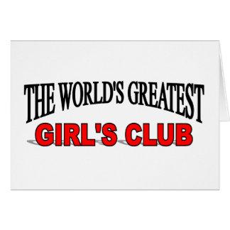 El club del chica más grande del mundo tarjeton