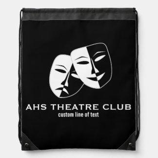 El club del drama del teatro enmascara nombre de mochilas