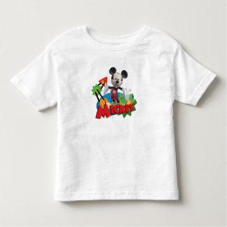 El club el | de Mickey Mouse arma hacia fuera Playera De Bebé