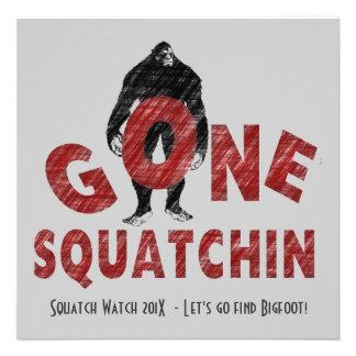 El club ido de los cazadores de Squatchin Bigfoot Invitaciones Personales