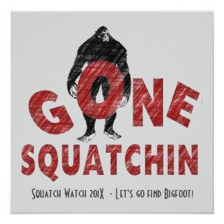 El club ido de los cazadores de Squatchin Bigfoot Invitación 13,3 Cm X 13,3cm