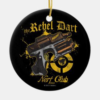 El club rebelde de Nerf del dardo Adorno Navideño Redondo De Cerámica