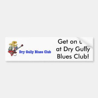 El club seco de los azules de la gaviota consigue pegatina para auto