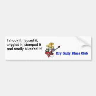 El club seco de los azules de la reguera lo pegatina para auto