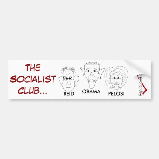 EL CLUB SOCIALISTA PEGATINA DE PARACHOQUE