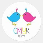 el cmyk es pegatina del amor