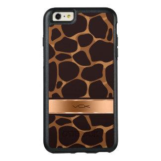 El cobre entona el modelo estilizado del leopardo funda otterbox para iPhone 6/6s plus