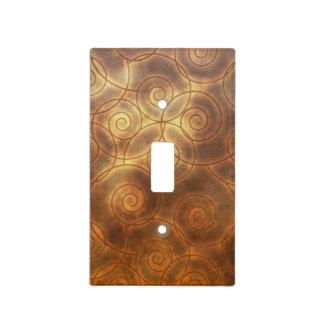 El cobre remolina las ilustraciones placa para interruptor