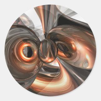 El cobre soña al pegatina abstracto
