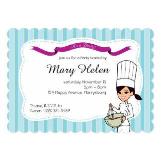 El cocer cocinando la invitación personalizada