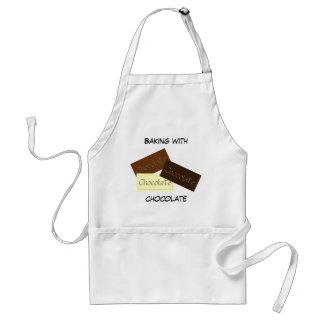 El cocer con el delantal del chocolate