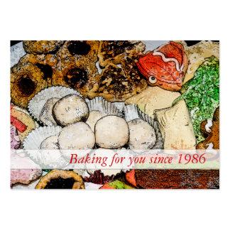 El cocer - galletas del navidad tarjetas de visita grandes