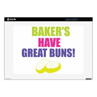 El cocer - los panaderos tienen buenos bollos calcomanía para 38,1cm portátil