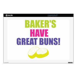 El cocer - los panaderos tienen buenos bollos calcomanías para portátiles