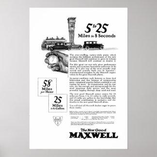 El coche 5 a 25 del maxwell hizo en el nuevo casti impresiones