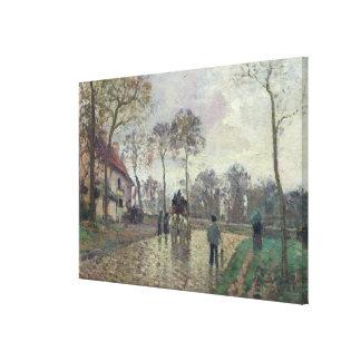El coche a Louveciennes, 1870 Lona Envuelta Para Galerías