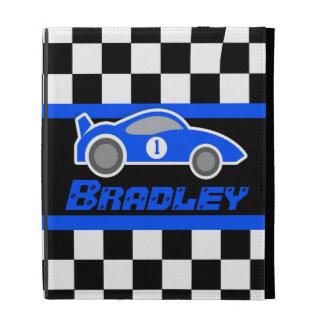 el coche de deportes azul auto de los niños nombró