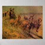 El coche de la etapa de Juan Borein, vaqueros del Poster