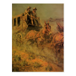 El coche de la etapa de Juan Borein, vaqueros del Tarjetas Postales