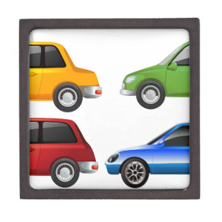 El coche del amarillo, del verde, rojo y azul cajas de regalo de calidad