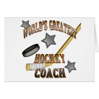 El coche del hockey más grande del mundo tarjeta de felicitación