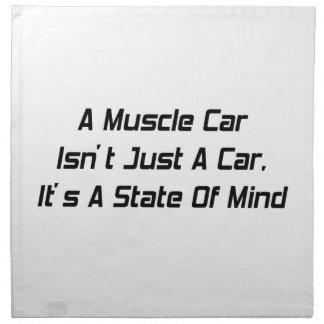 El coche del músculo no es apenas un coche que es  servilleta