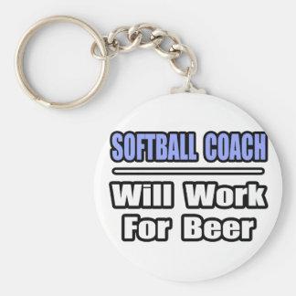 El coche del softball… funcionará para la cerveza llavero