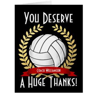El coche gigante del voleibol le agradece tarjeta de felicitación grande
