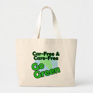 el coche libre y el cuidado liberan bolsa de tela grande
