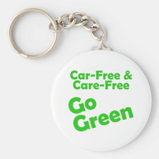 el coche libre y el cuidado liberan llavero redondo tipo pin