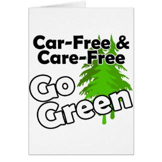 el coche libre y el cuidado liberan felicitaciones