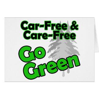 el coche libre y el cuidado liberan tarjetas