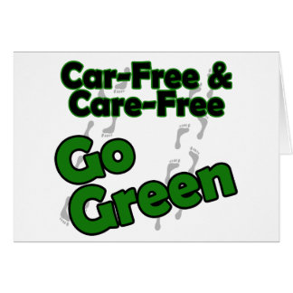 el coche libre y el cuidado liberan felicitación