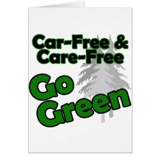 el coche libre y el cuidado liberan tarjeta