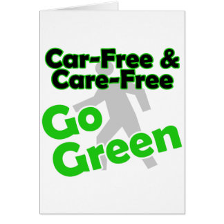 el coche libre y el cuidado liberan tarjeton